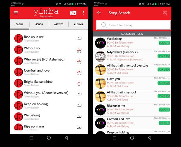 Yimba Music App